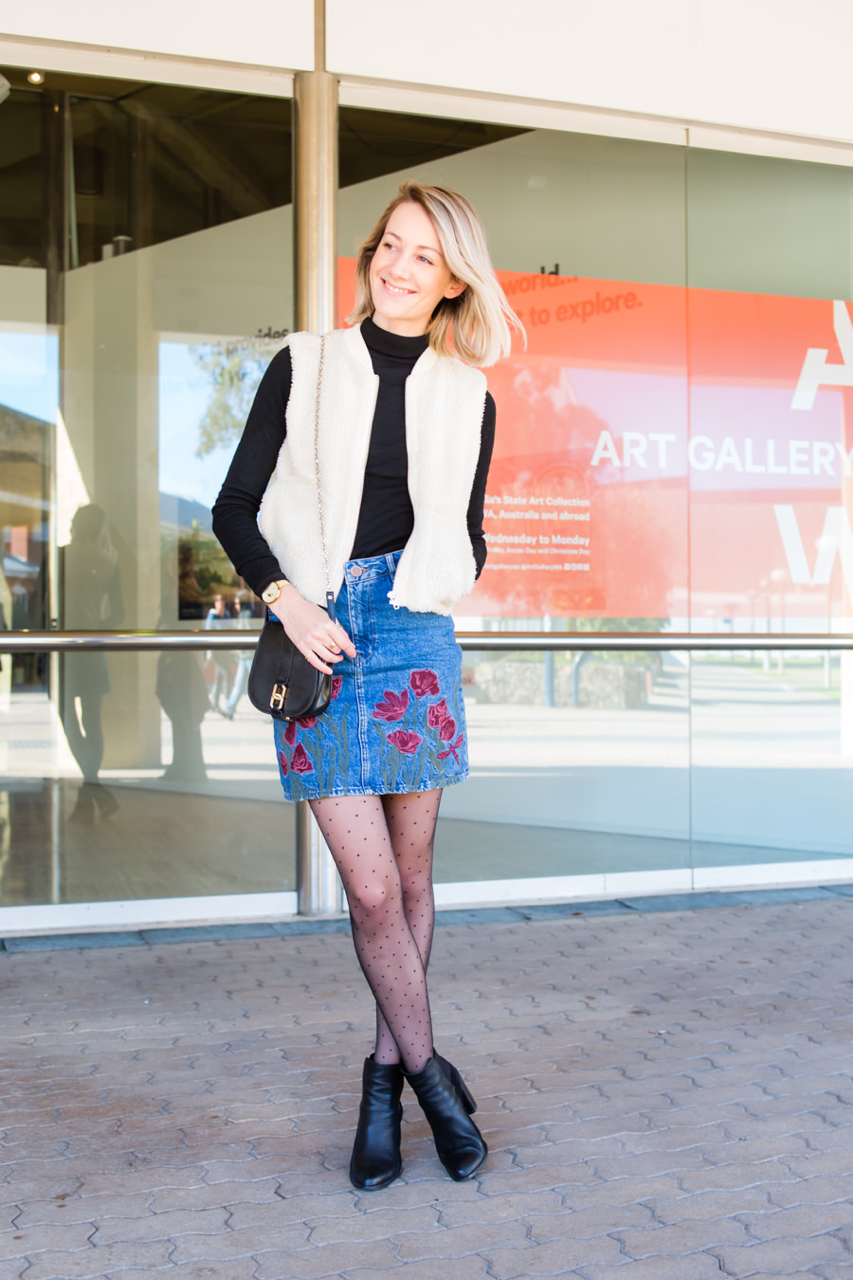 "WA: Holly Mitchell, Blogger, Telstra Perth Fashion Festival Opening. ""I am a wine and book lover."" Photo:  <a href=""http://www.rahstudios.com.au/street-style.html/"" target=""_blank"">Alain Quah</a>"
