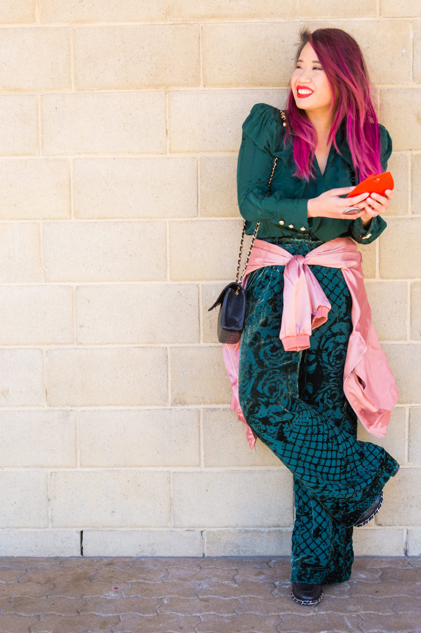 "WA: JoAnn, Blogger, Telstra Perth Fashion Festival Launch. ""I enjoy experimenting with my personal style which is still evolving."" Photo:  <a href=""http://www.rahstudios.com.au/street-style.html/"" target=""_blank"">Alain Quah</a>"