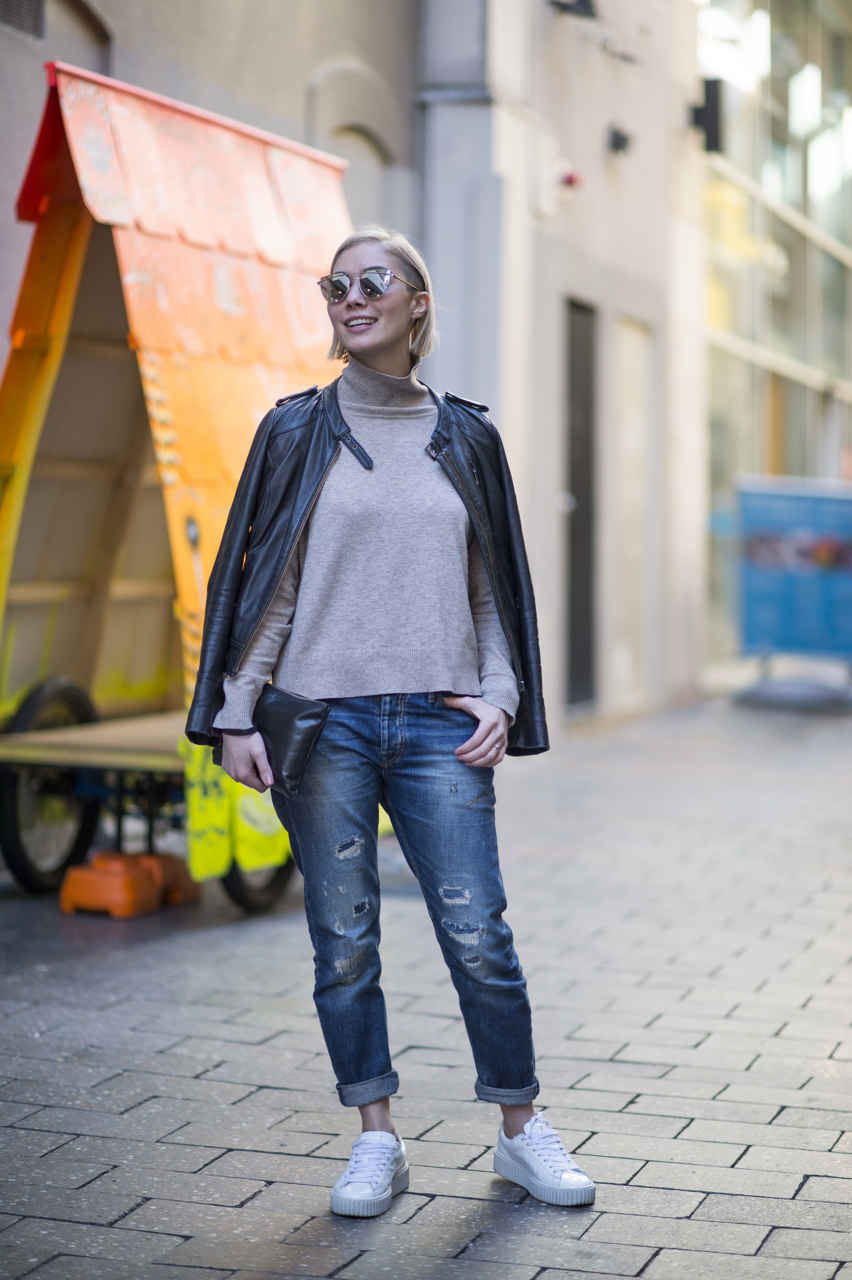 "SA: Kyla Job, Manager, Rundle Mall. ""I like to go for effortless style...easy and relaxed."" Photo: Eli Francis"