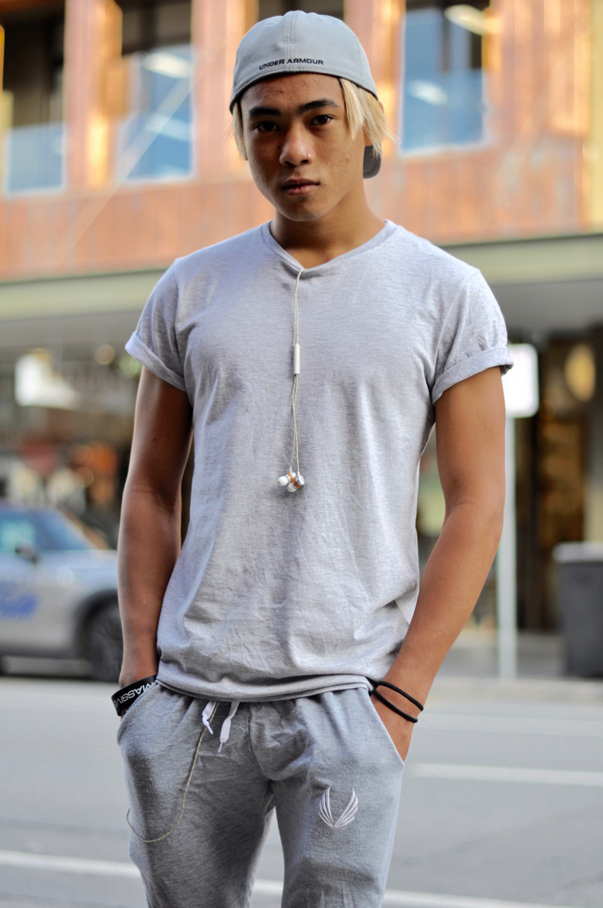 "SA: Mike Van Hooff, student, Rundle Street East. ""I'm just going out with friends. My fave style to wear  is urban."""