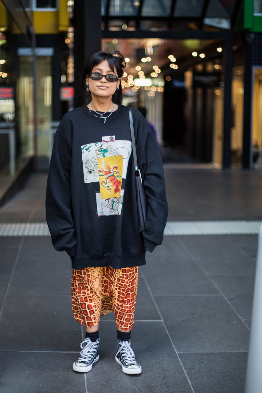 "VIC: Shezanne Sadiker, retail assistant, Swanston St, Melbourne. ""Just do you."" Photo: Zoe Kostopoulos"
