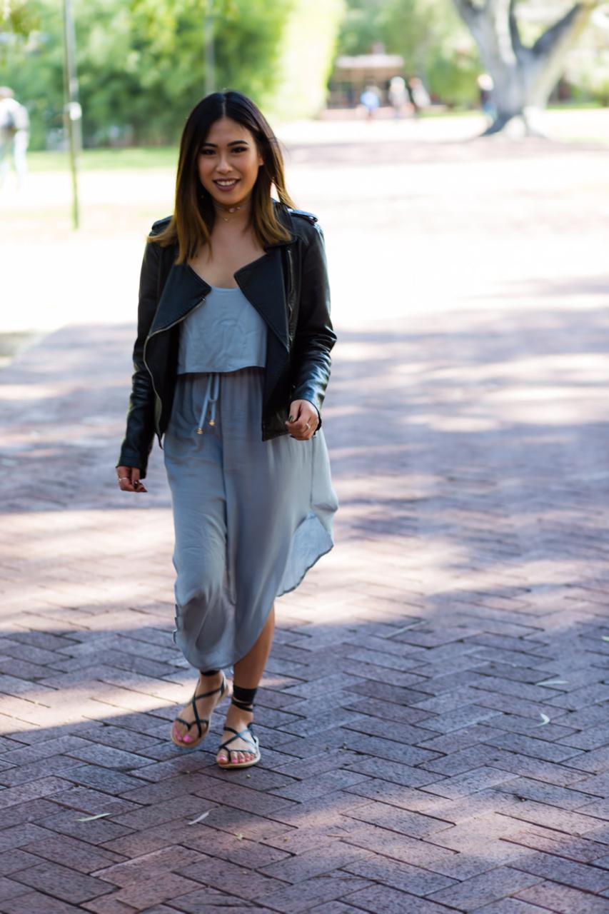 "WA: Felicia Chan, Student. ""I love minimalistic styles and simple colours."" Photo: Alain Quah"