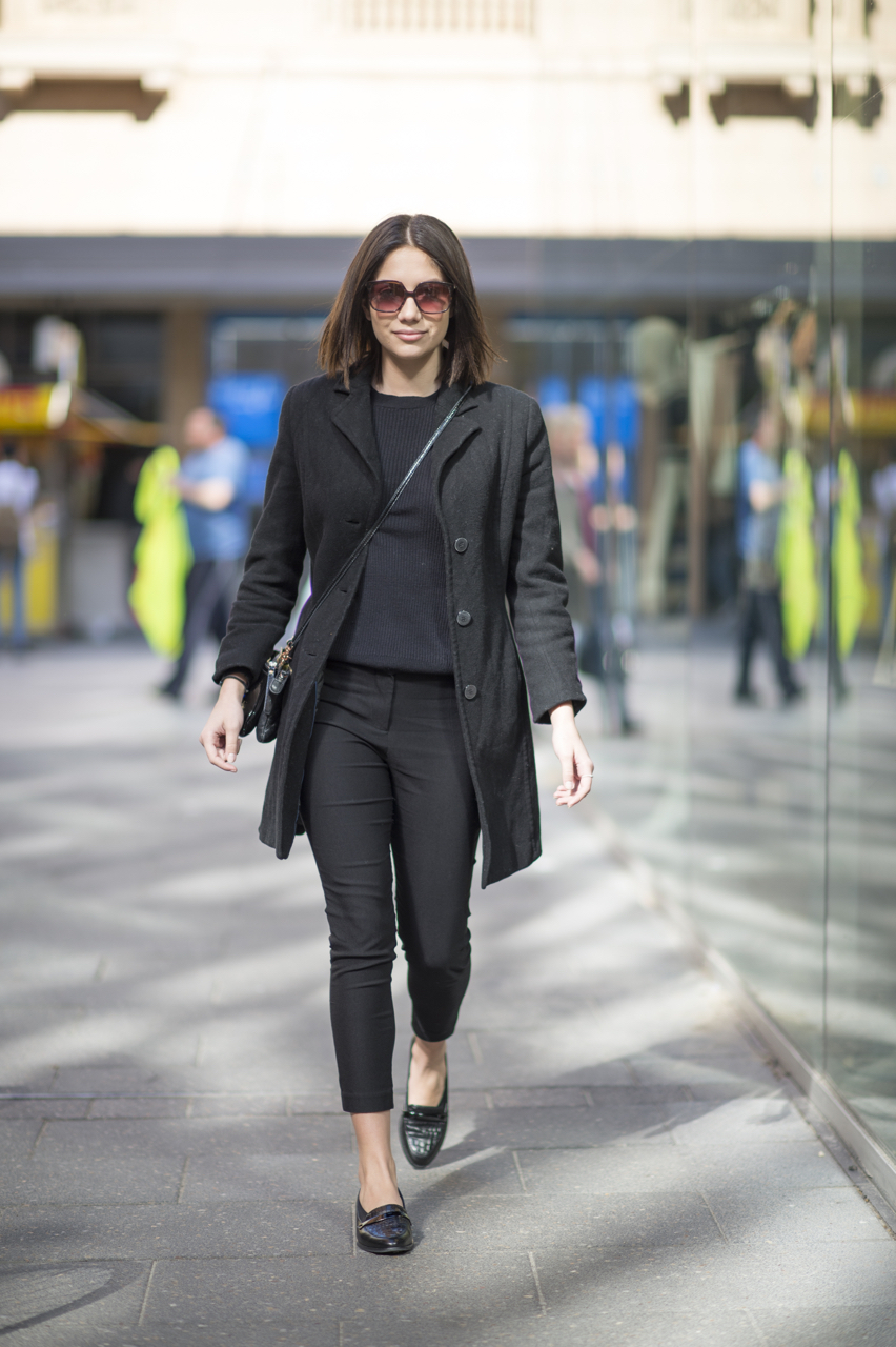 """SA: Milica, Sales, Rundle Mall. """"I just throw on whatever, as long as it's black."""" Photo: Eli Francis"""