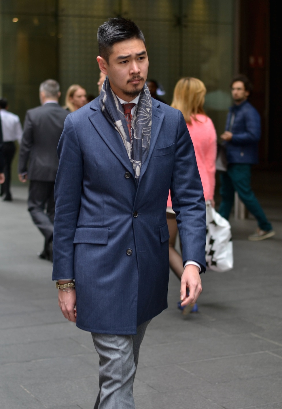 """NSW: William Phung, online publications editor, Pitt St Mall. """"I have a tribal Mishatonic sartorial style."""" Photo: Alice Scriberras"""