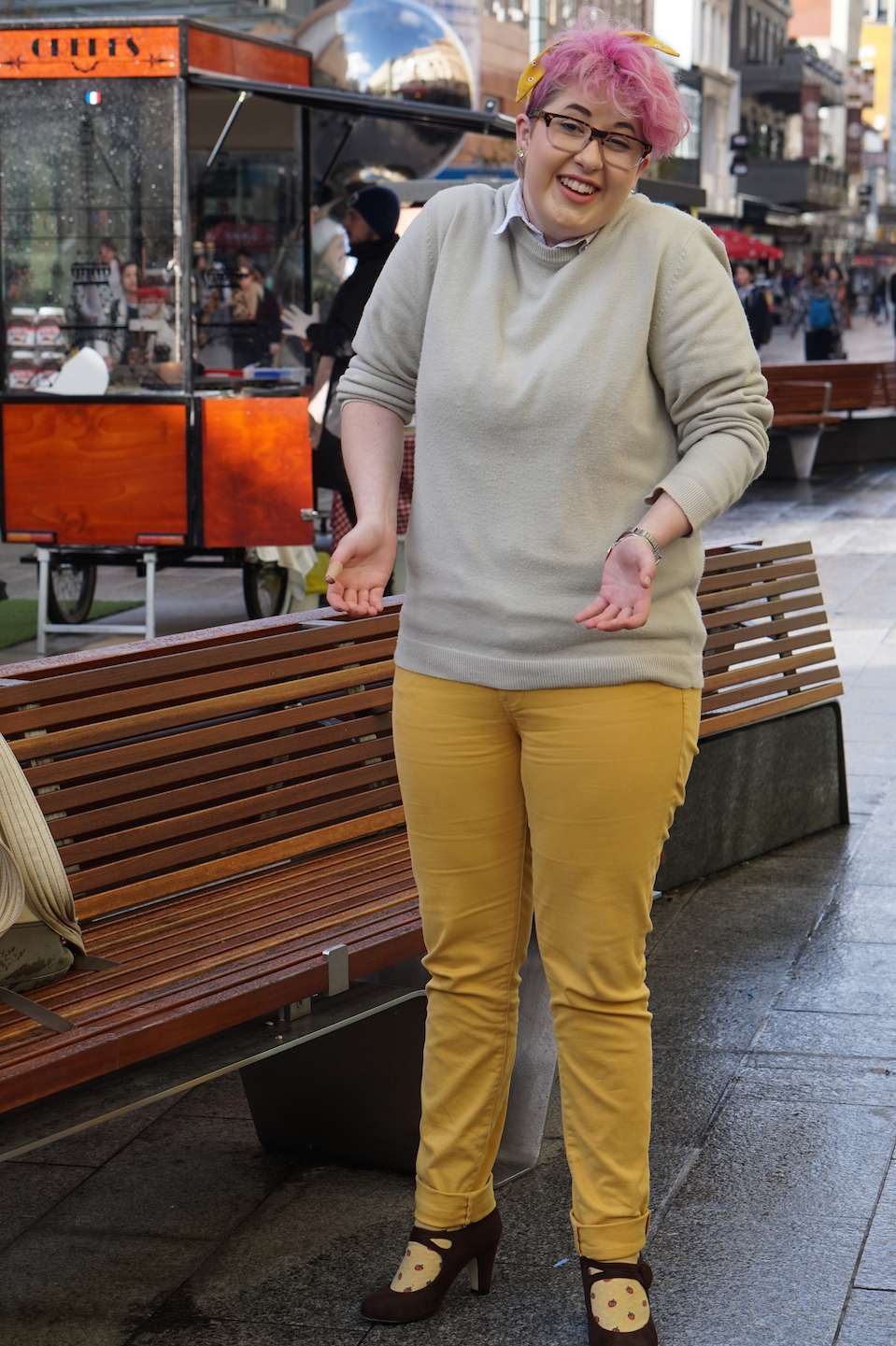 "SA: Jordan Klaassen-Jones, Rundle Mall, Adelaide. ""I'm bright and bubbly."""