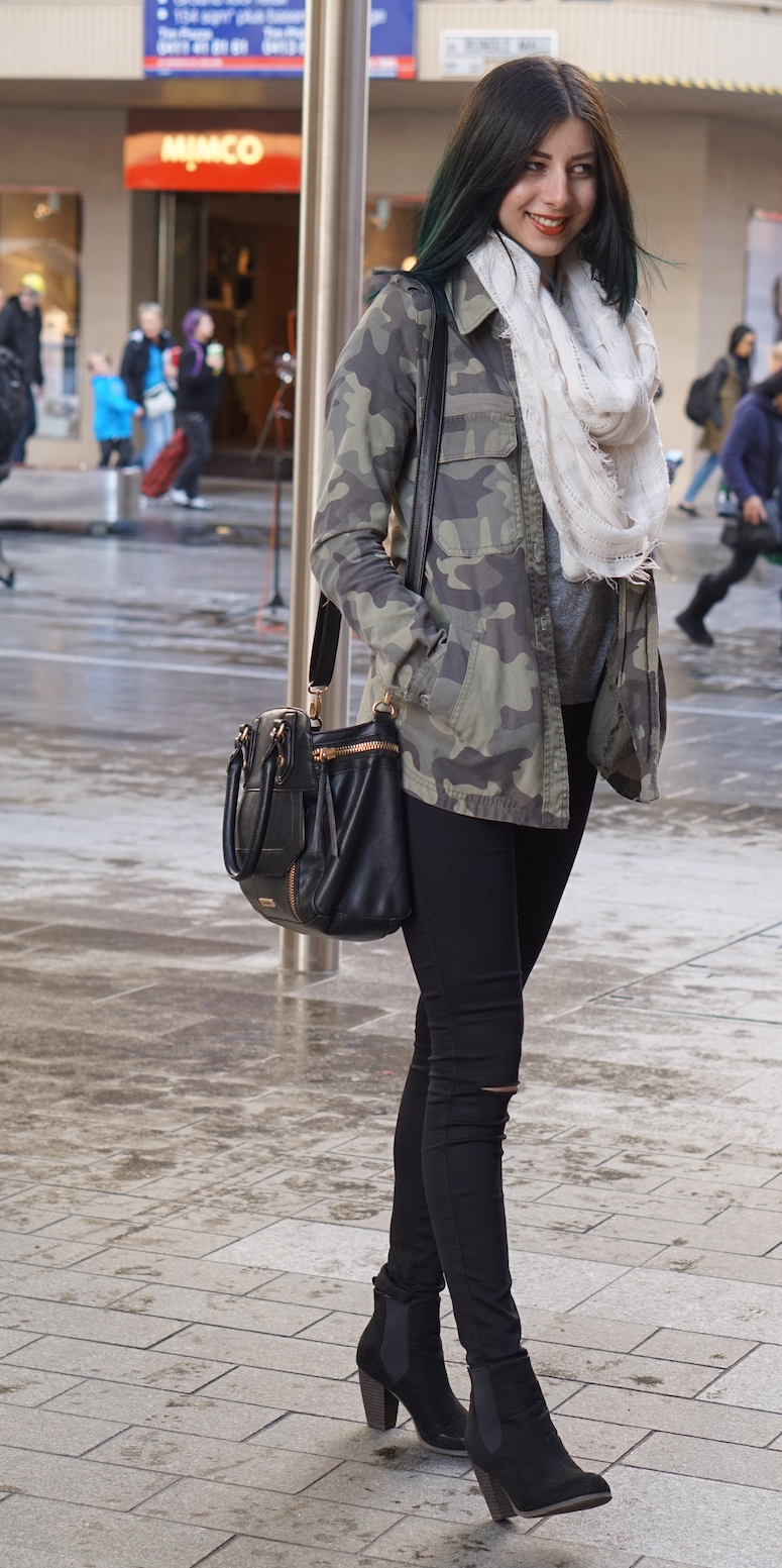 """SA: Jacqueline, Rundle Mall, Adelaide.  """"Today's my day off: I'm comfy."""""""