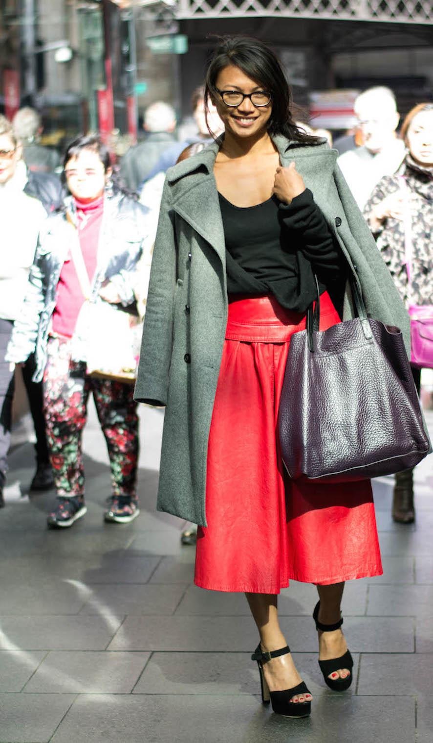 "NSW: Kristine Fernandez, Pitt St Sydney. ""I wear vintage."" Photo: Alice Scriberras"