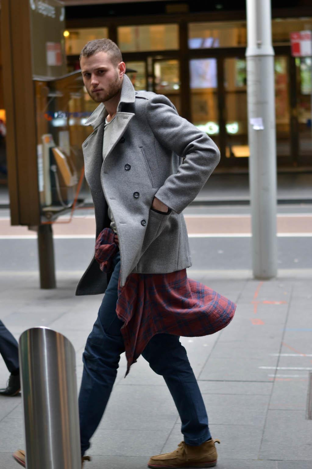 "NSW: Brad, stylist & editor, Elizabeth St, Sydney. ""My style's messy."" Photo: Alice Scriberras"