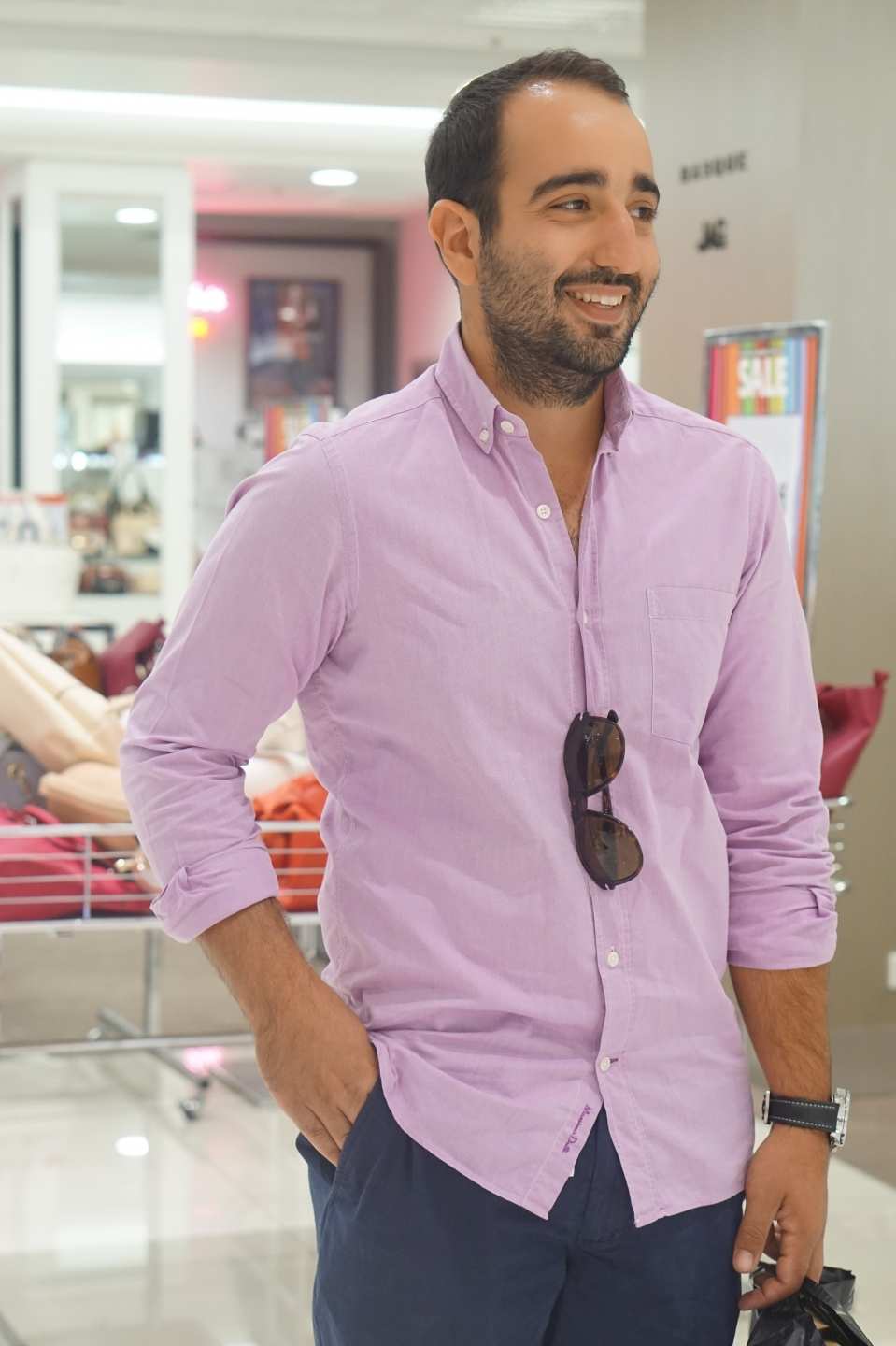 """SA: Gabriel Tranfa, concretor, spotted in Myer, Adelaide. """"I'm a lover of brands."""""""