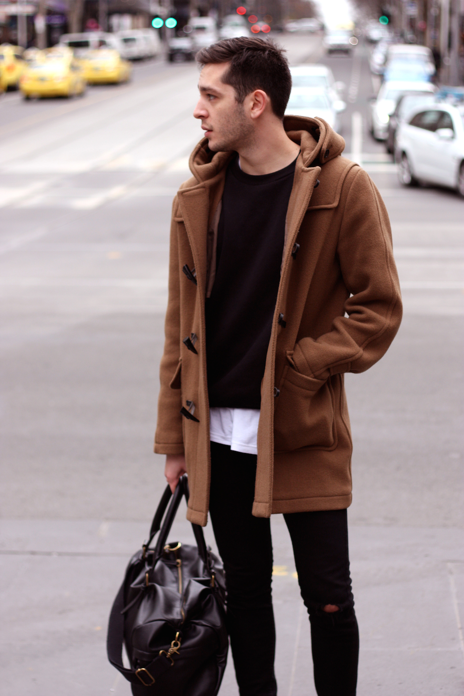 """Vic: Joe Duran, call centre worker, Bourke St. """"Minimalism and effortless describe my style.""""  <a href="""" http://www.marythamphotography.weebly.com/"""" target=""""_blank""""> Photo: Mary Tham </a>"""