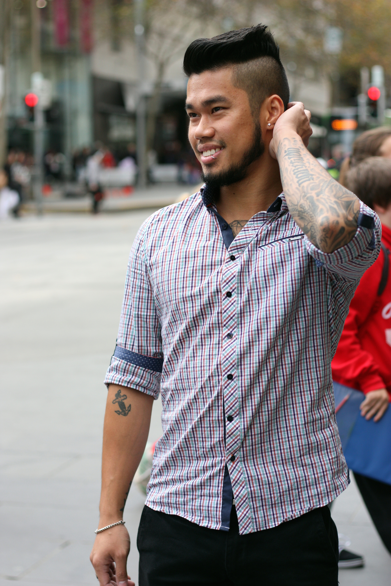 "VIC: Tam Ong, retail sales, Bourke St, Melbourne. ""My style's a combination of work wear and street wear and how I feel each morning."" Photo:  <a href=""http://www.marythamphotography.weebly.com/"">Mary Tham.</a>"