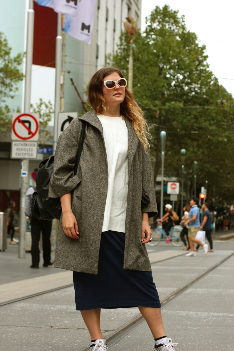 "VIC: Laura Szyman, architecture student, Bourke St, City. ""Less is neither more nor a bore.""  Photo: Mary Tham"