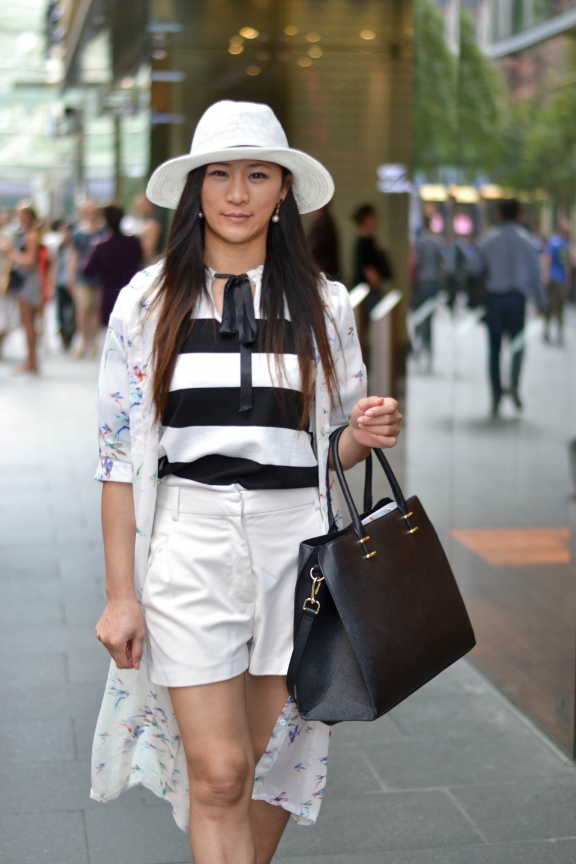 "NSW: Pornnapat Jaroensuk, student, Pitt St, Sydney. ""Chic style."" Photo: Alice Scriberras"