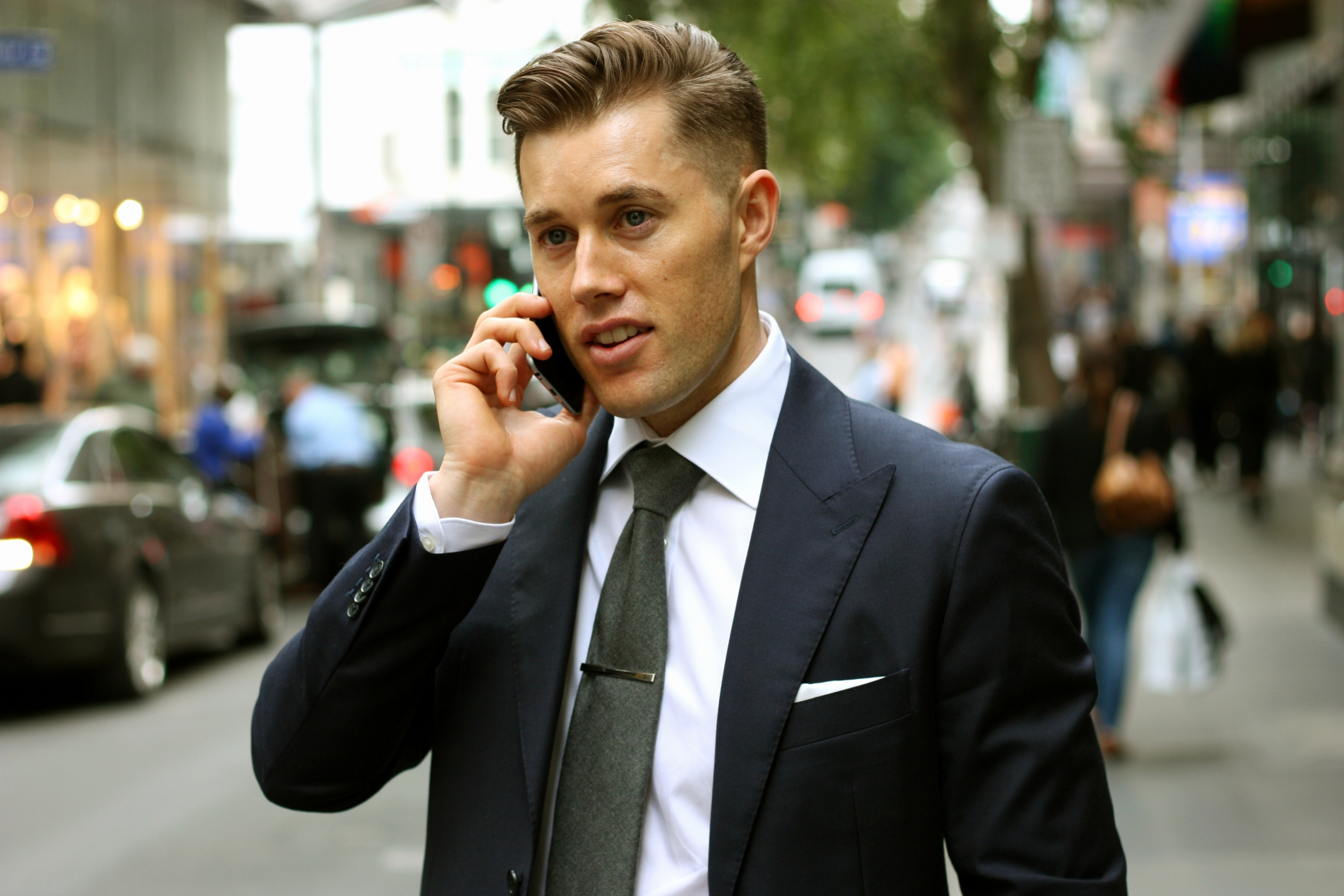 "VIC: Nicholas Beks, Real Estate, Little Bourke Street, Melbourne CBD. ""Dapper professional style."" Photo:  <a href=""http://www.marythamphotography.weebly.com/"">Mary Tham</a>"