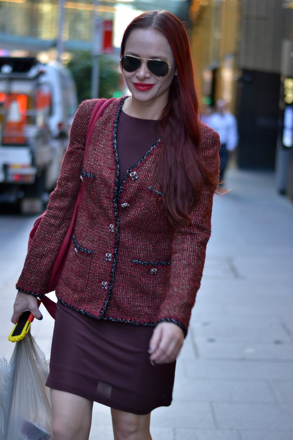 "NSW: River Nygryn, project manager, Sydney, CBD. ""I'd say my style's rock n roll chic."" Photo: Alice Scriberras."