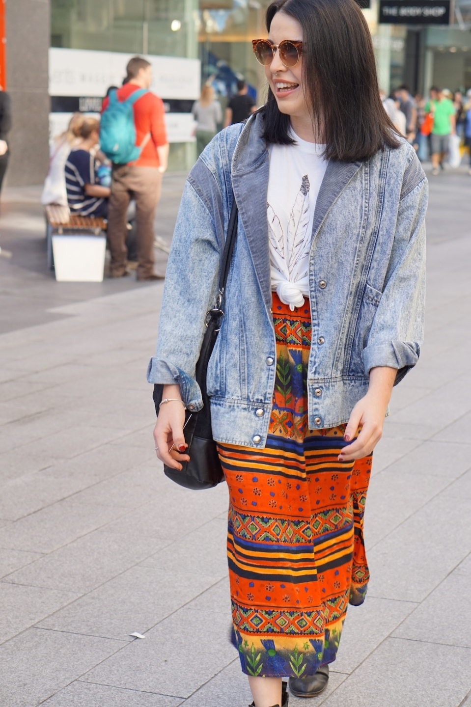"SA: Toni Cavallero, student, Rundle Mall. ""My personal style is thrifty."""