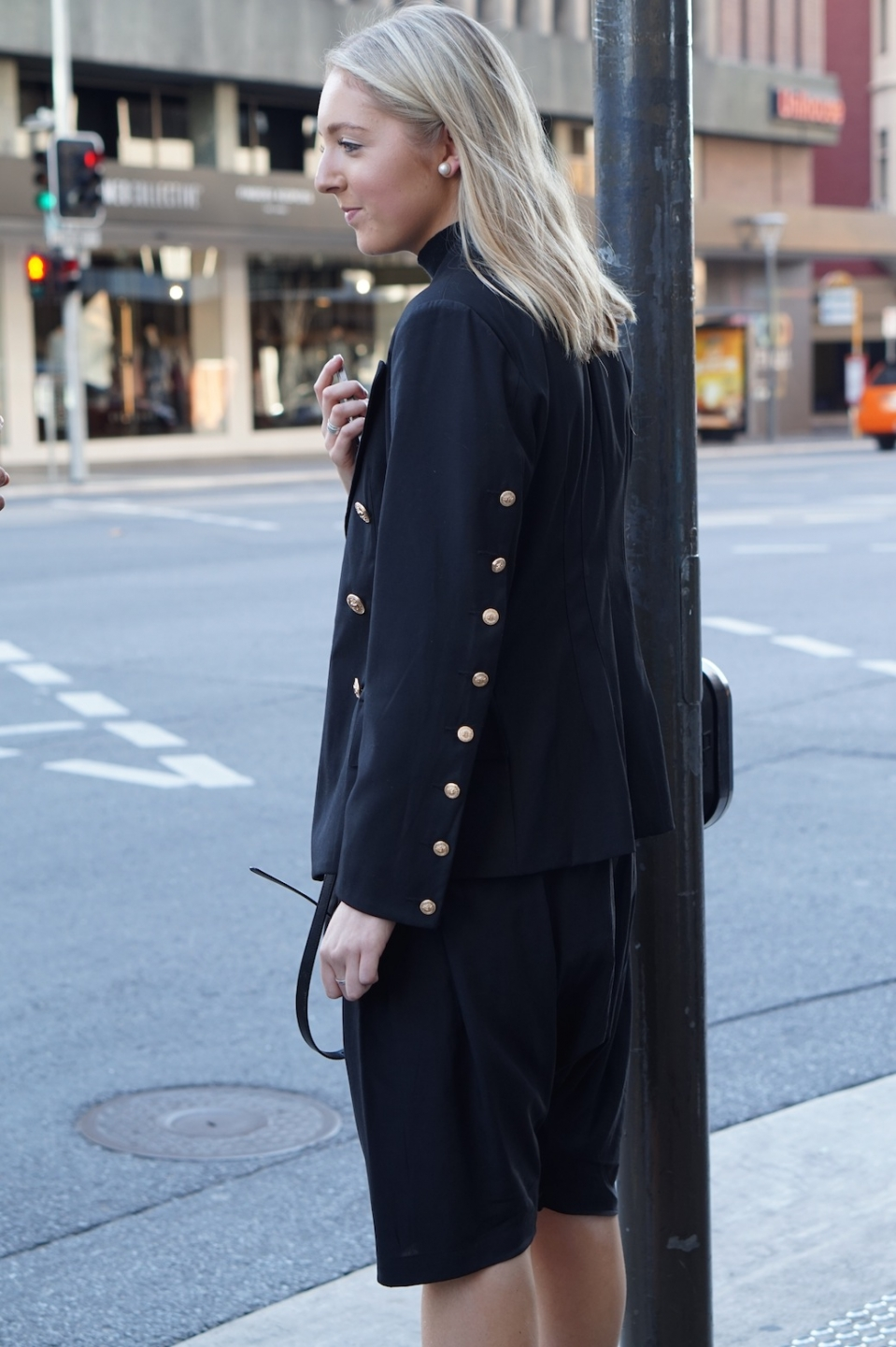"SA: Molly Price, sales assistant, Rundle St East. ""Back to black."""