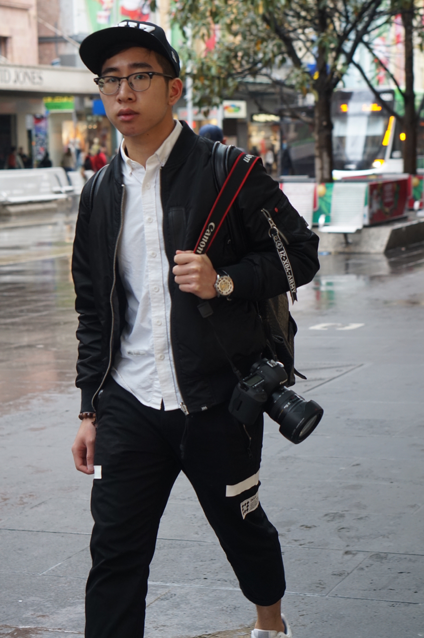 "VIC: Elvis, student, Bourke St, Melbourne. ""I always change my style."""