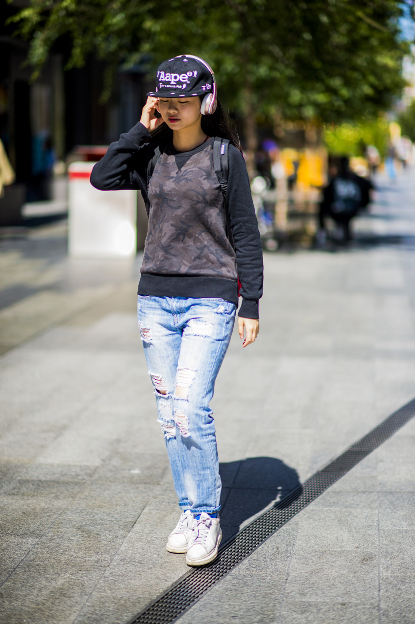 "SA: Anna, student, Rundle Mall, Adelaide. ""I'm heading off to my friends."" Photo: Eli Francis"