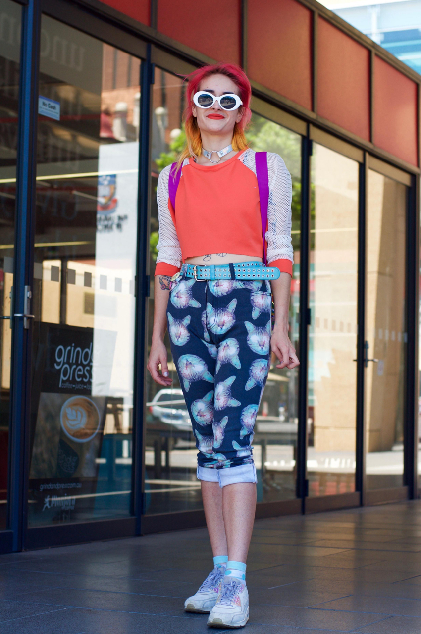 "Street Style Australia - SA: Daniella D'Alessandro, student, North Terrace. ""On the way to see a movie."""