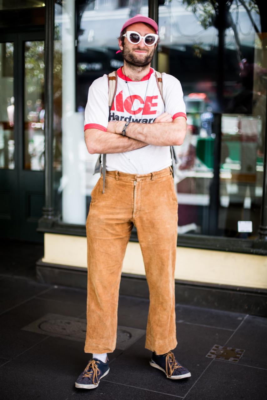 "VIC: Shaun Colnan, Teacher, Bourke St, Melbourne. ""Slim, slick, suave."" Photo: Zoe Kostopoulos"