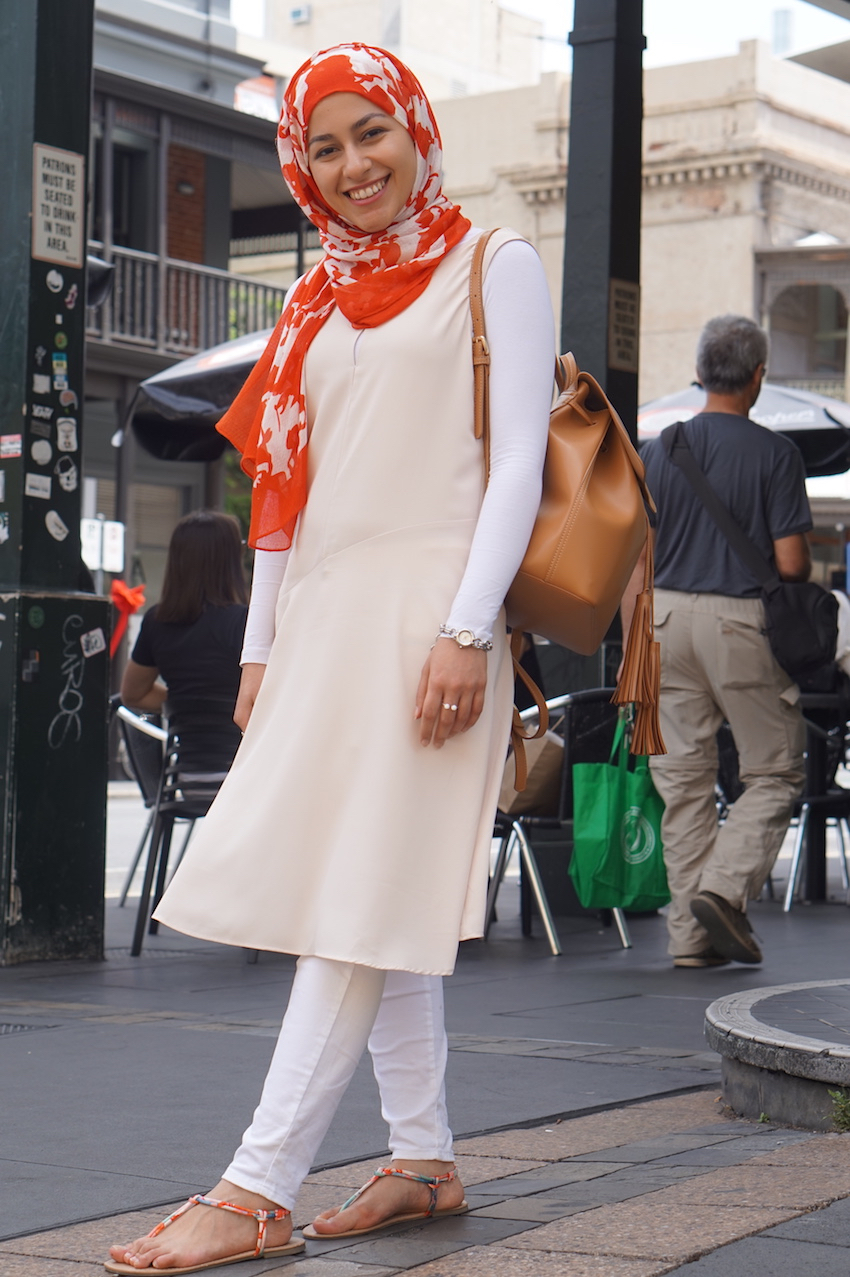 "SA: Lur Alghurabi, student, Rundle St East, Adelaide. ""I don't own anything black. I love colours!"""