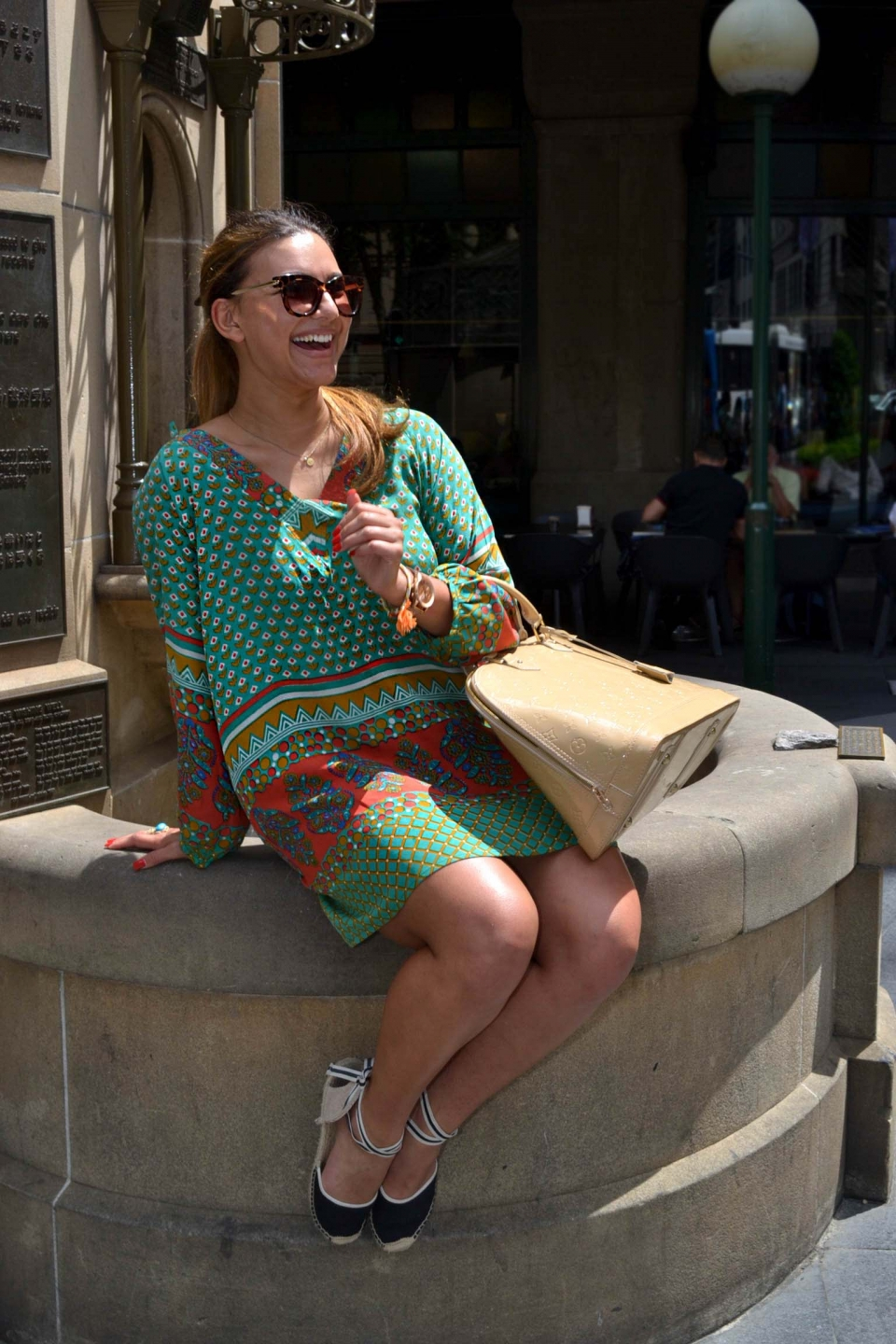 "NSW: Lauren Nash, graphic designer, QVB, Sydney. Photo: Alice Sciberras. "" My style is Boho shieke""."