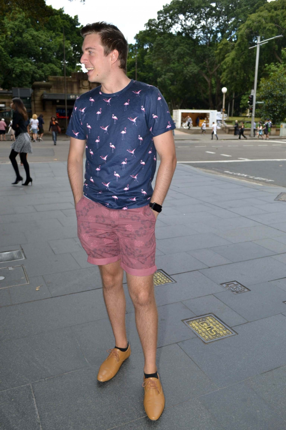 "NSW: Chris Warren, engineer, Market St, Sydney. Photo: Alice Sciberras.  ""I'd describe my style as preppy casual."""