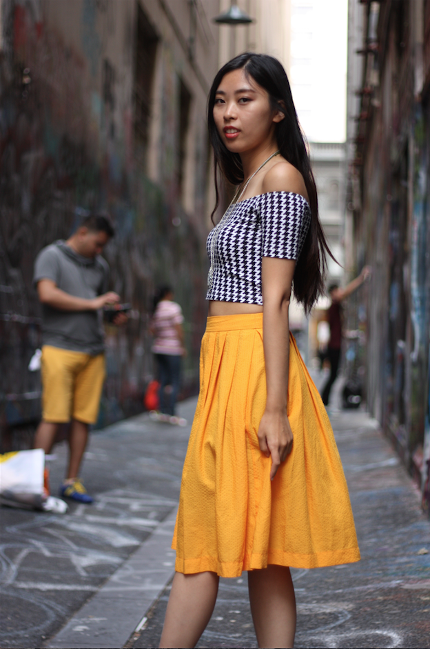 "Vic: Vera, student, snapped just off Bourke St Mall. ""I'm into vintage."" Pic: Mary Tham"