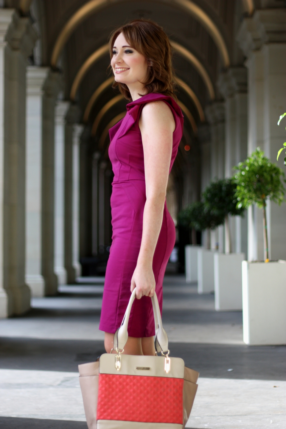 "Vic: Amy Dunstan, secretary, Bourke St. ""My style is casual sophistication"". Photo: Mary Tham"