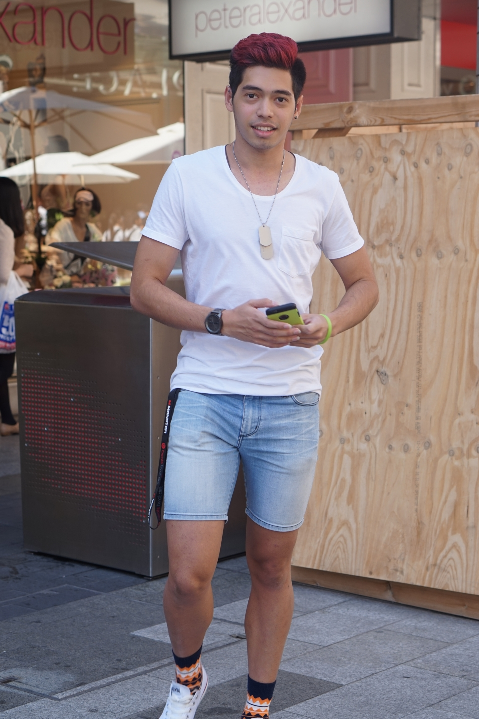 "SA: Jason Concalves Da Costa, student, Rundle Mall. ""My clothes are basic because my personality speaks for itself."""
