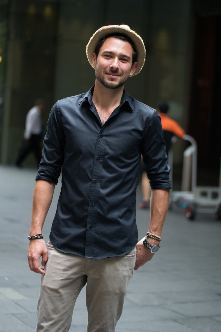 "NSW: Aurelien Jeffreao, Bartender,  Pitt St. ""There's a first time for everything!"" Photo: Alice Sciberras"