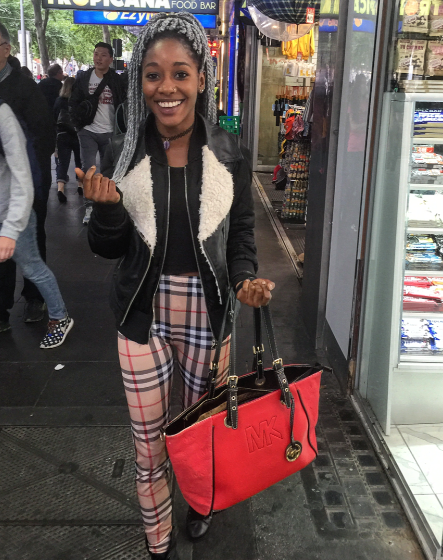 "Vic: Dorcas Ramadhani, student, Swanston St, city. ""I'm so surprised you stopped me."""