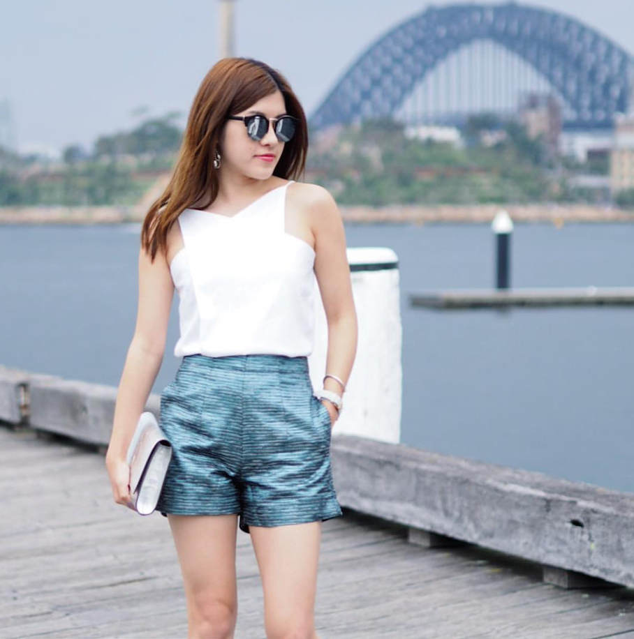"NSW: Karen Kwan, Style Blogger, Sydney. ""I love mirrored lenses."""