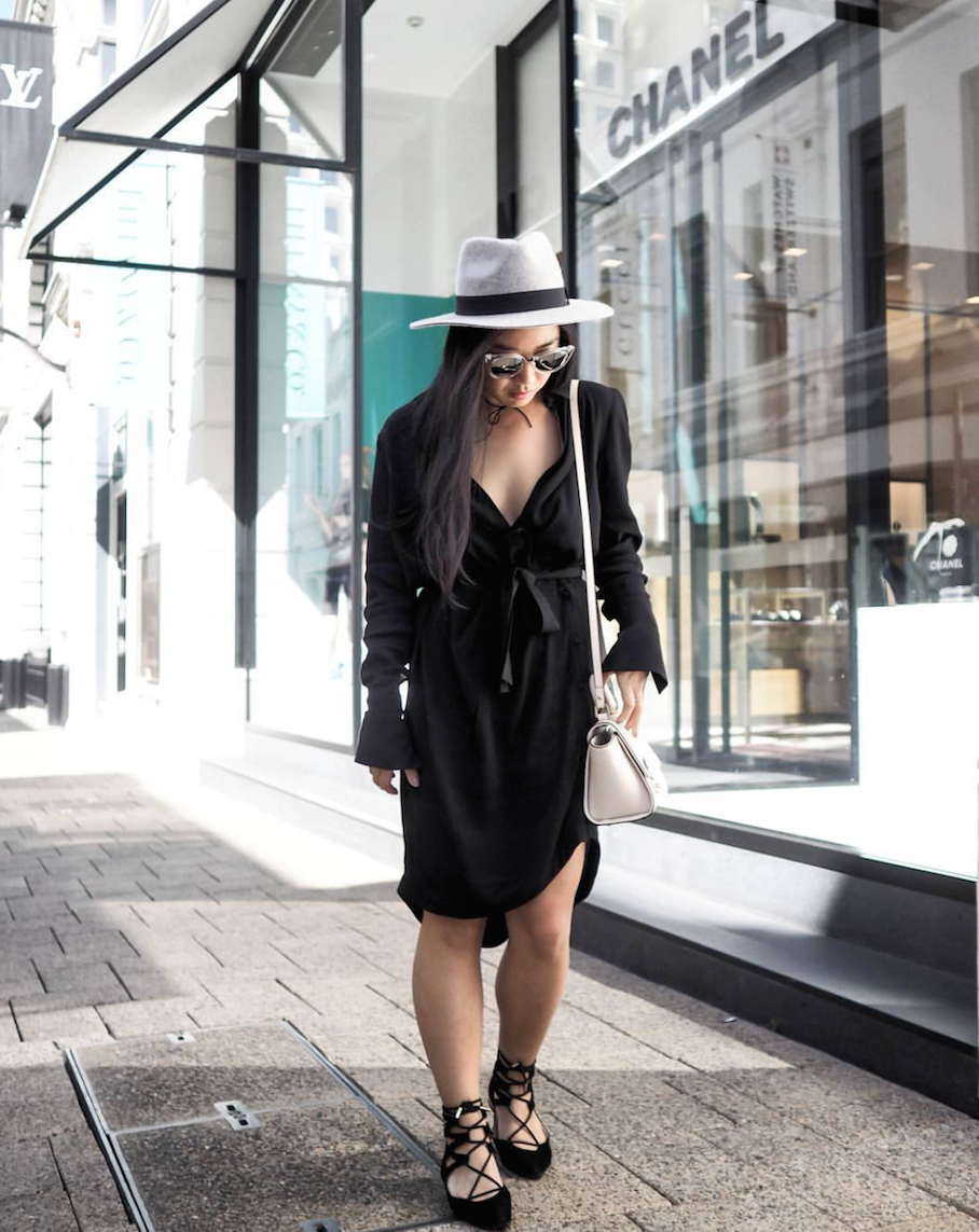 "WA: Eden Gan, Stylist, King St, Perth. ""I'm Just running a few errands."" Photo: Wilson L"