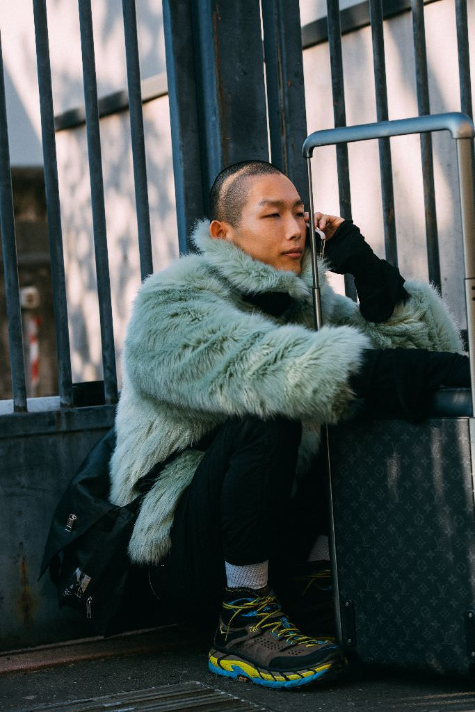 "International Street Style Fashion - Milan: <a href=""https://footwearnews.com/""target=""_blank"">FWN</a>"