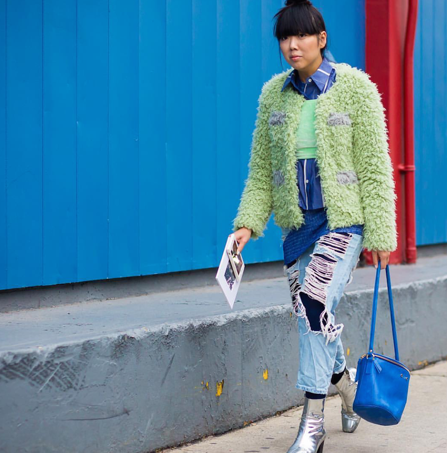 "Paris:<a href=""http://instagram.com/styledumonde/""target=""_blank""> Susie Bubble</a>"