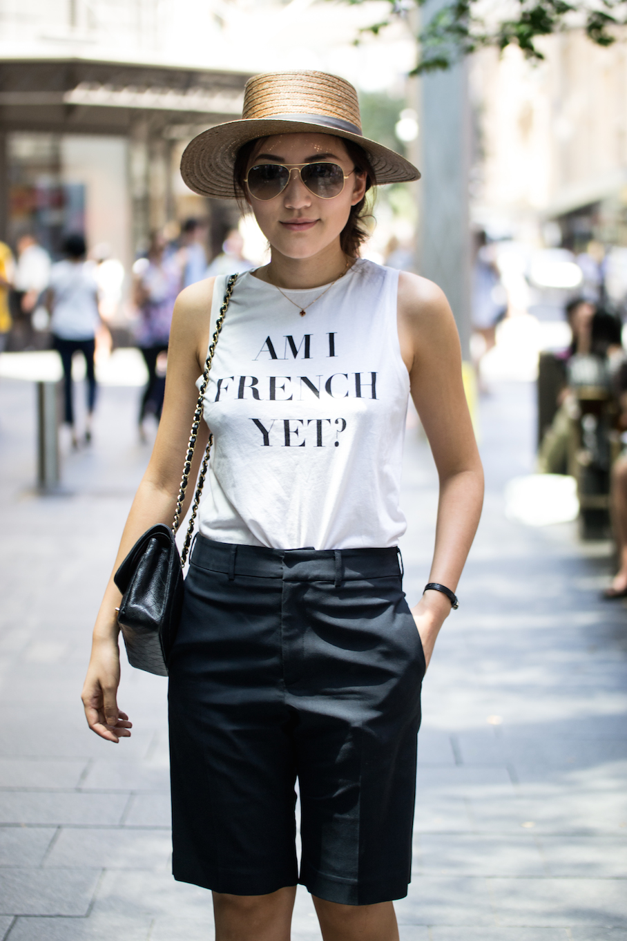 "NSW: Blair Zhang, Pitt St, Sydney. ""I just got this cute hat."" Photo: Alice Sciberras."