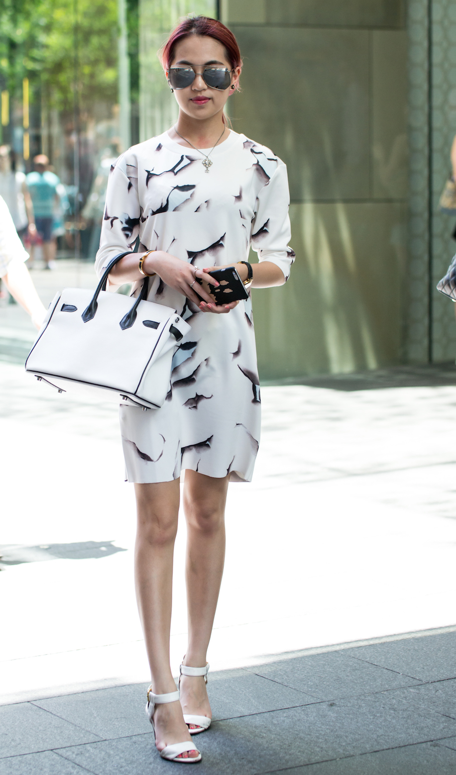 "NSW: Song Yi Wen, Pitt St, Sydney. ""I'm a student but I love my fashion."" Photo: Alice Sciberras"