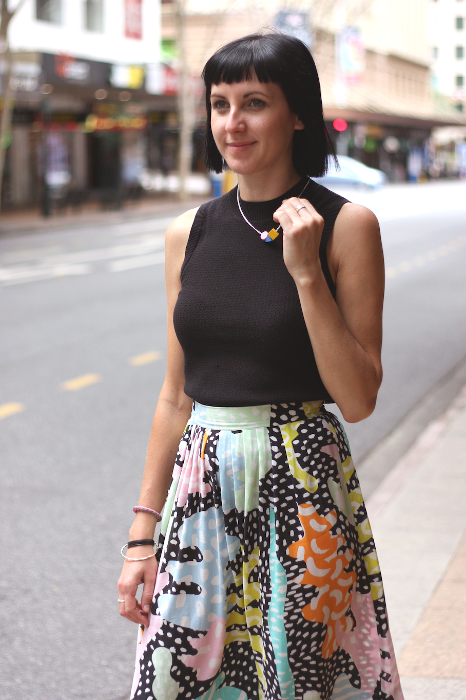 "Qld: Naomi H, Gorman Store Manager, Adelaide St, Brisbane. ""My preferred style is feminine wear with a little edge."" Photo: <a href=""http://www.marythamphotography.weebly.com/"" target=""_blank"">Mary Tham </a>"