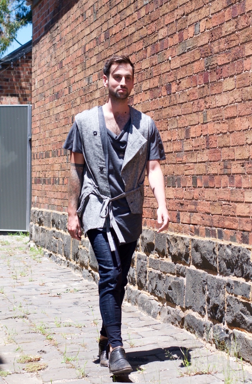 """Melbourne: Evan, Pattern Maker, just off Johnson St Fitzroy. """"It's a hot day."""""""