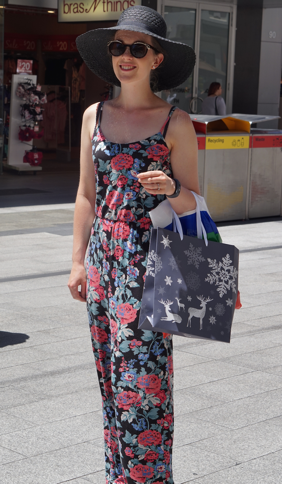 "SA: Sophie Aitken, Art Teacher, Rundle Mall. ""I dress in comfortable, fun and brightly patterned clothes."""