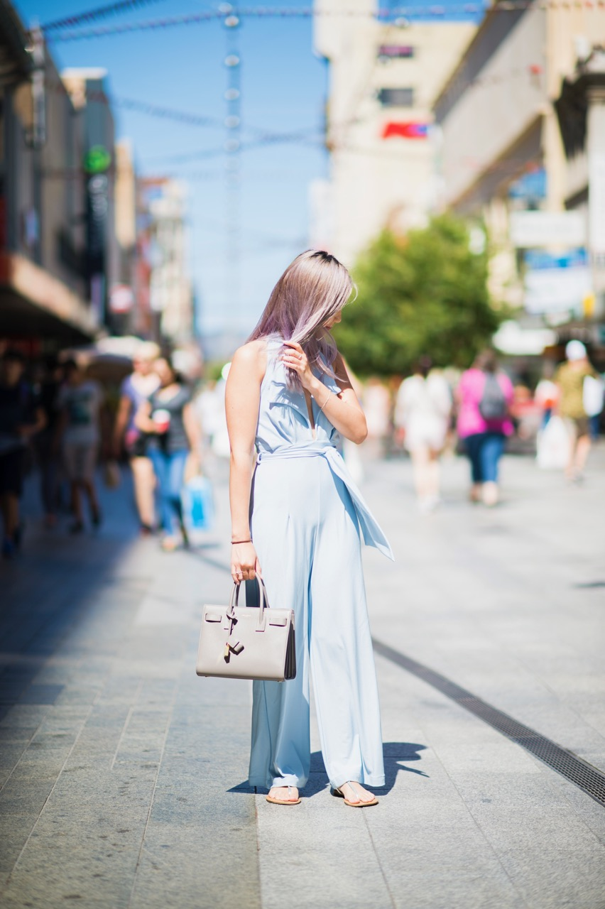 "SA: Jenny Mach, Rundle Mall, Adelaide. ""I'm a shopaholic and no-one can stop me!"" Photo: Eli Francis"