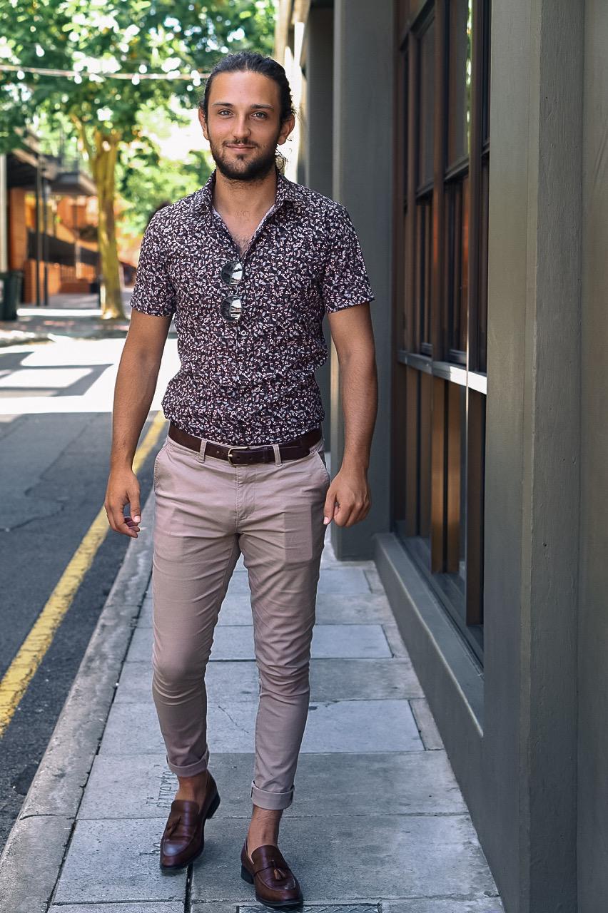 "SA: John Karatzas, Sales Assistant, <a href=""http://www.rundlestreet.com.au/"" target=""_blank"">Ebenezer Place</a>. ""I like floral shirts."" Photo: Stacey Em"