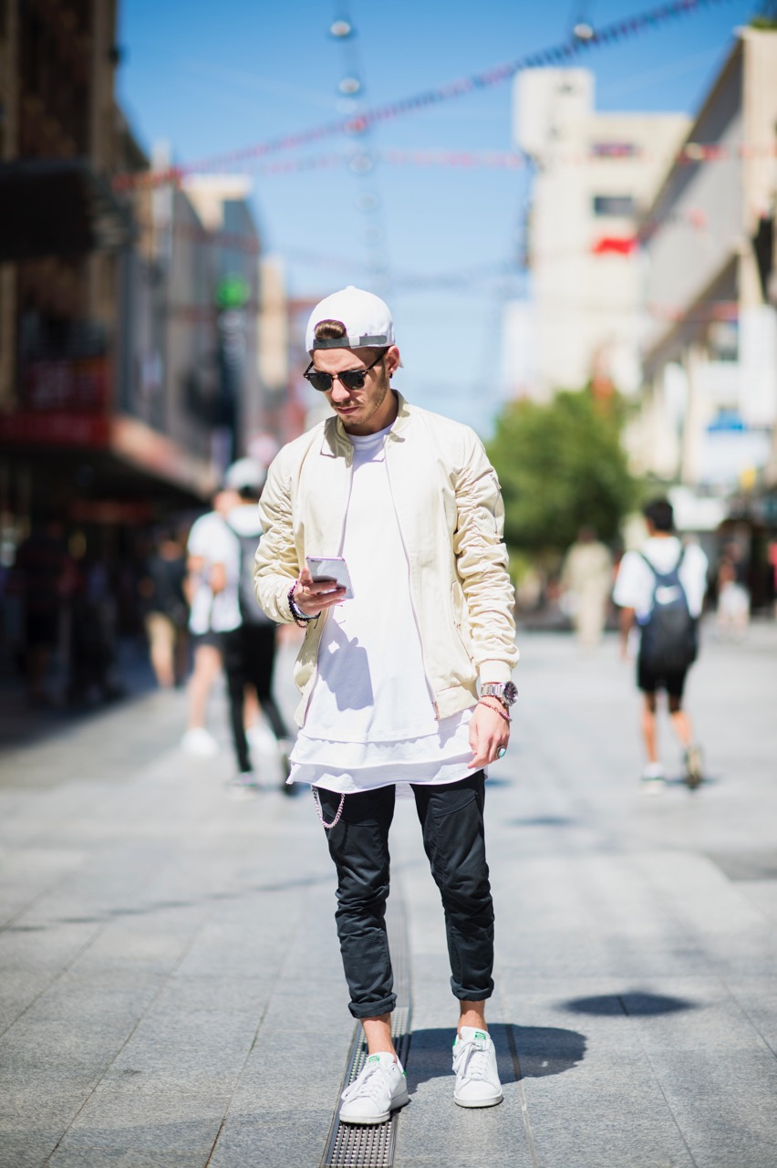 "SA: Matthew, Rundle Mall, Adelaide. ""I dress to epitomise my personality."" Photo: Eli Francis"