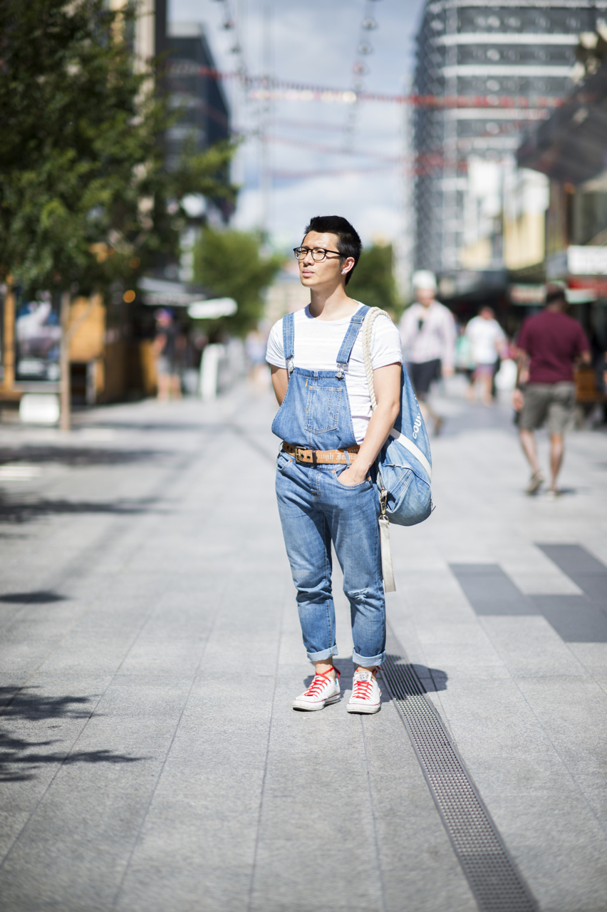 "SA: Emrys, Lab Technician, Rundle Mall, Adelaide. ""I'm out on my way to lunch from church."" Photo: Eli Francis"