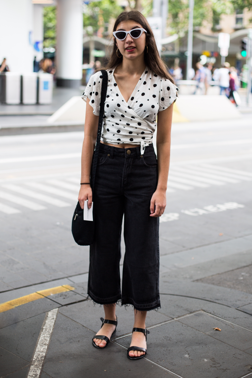 "VIC: Olivia Arcaro, Student, Melbourne. ""I like colour coordination, second hand things and borrowing from the fashion of cool female characters."" Photo: Zoe Kostopoulos"