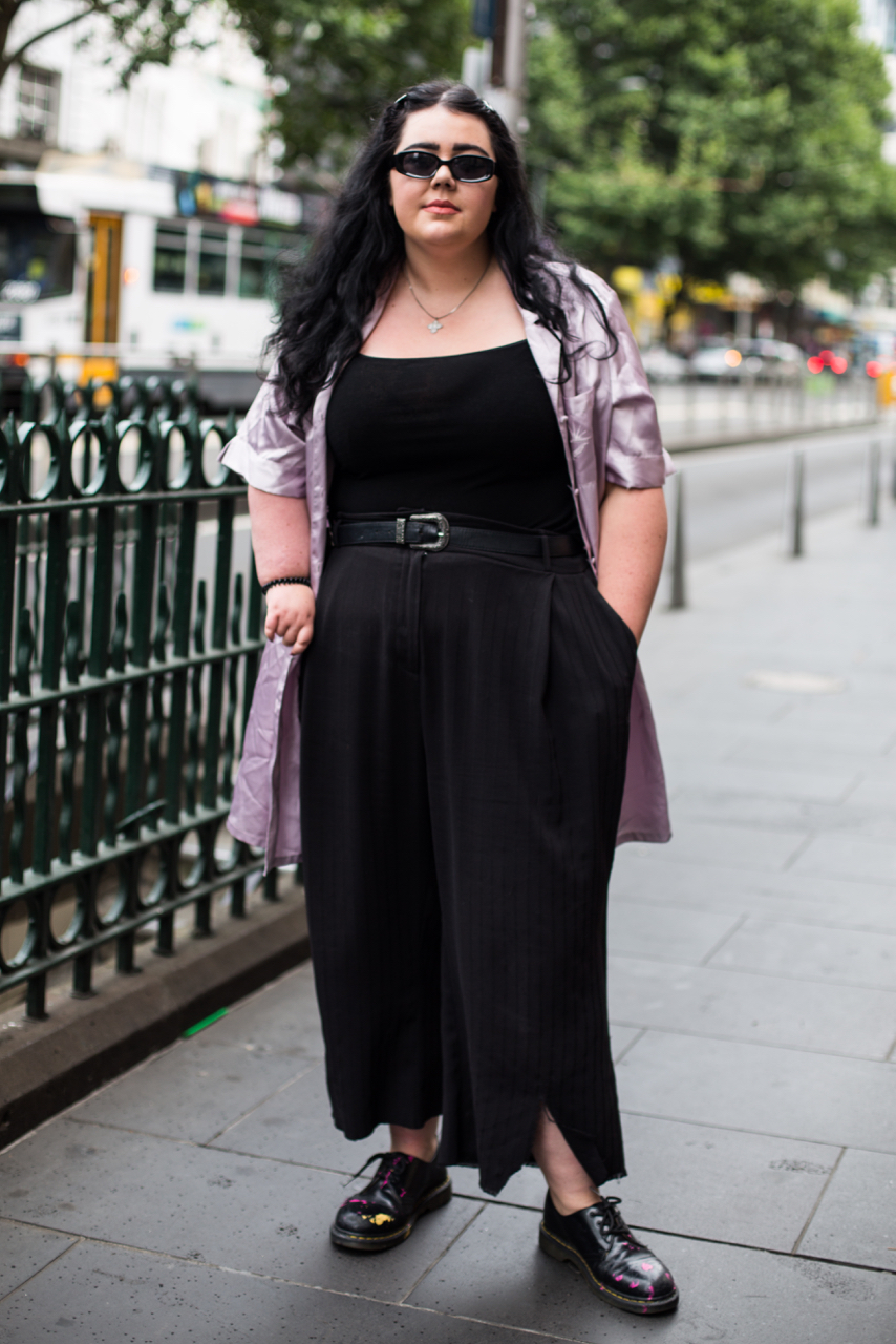 "VIC: Tansy Gorman, Theatre Student, Melbourne. ""I like to dress like a bad guy from a Disney Channel original."" Photo: Zoe Kostopoulos"
