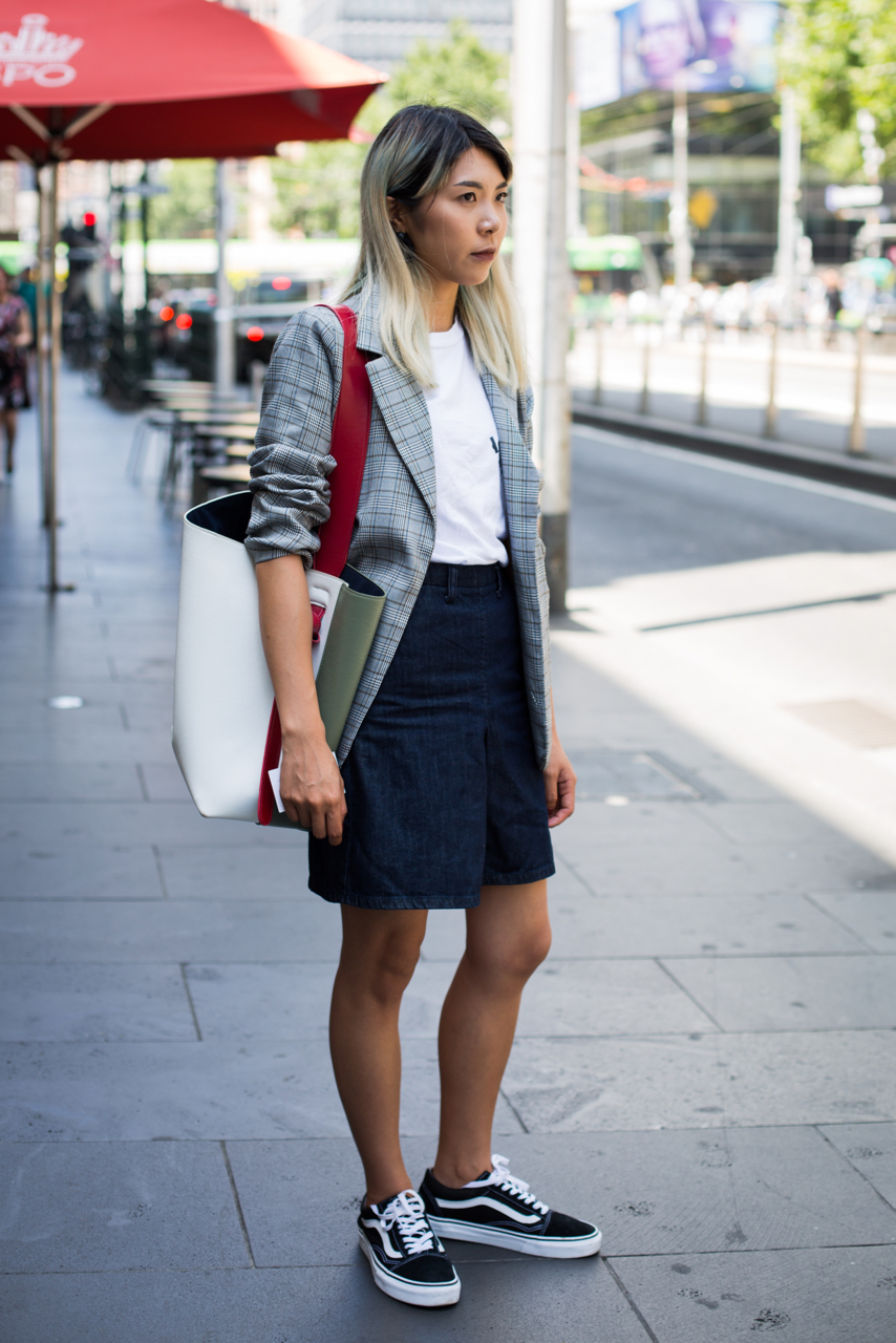 "VIC: Amy, Student, Elizabeth St, Melbourne. ""Simple"". Photo: Zoe Kostopoulos"