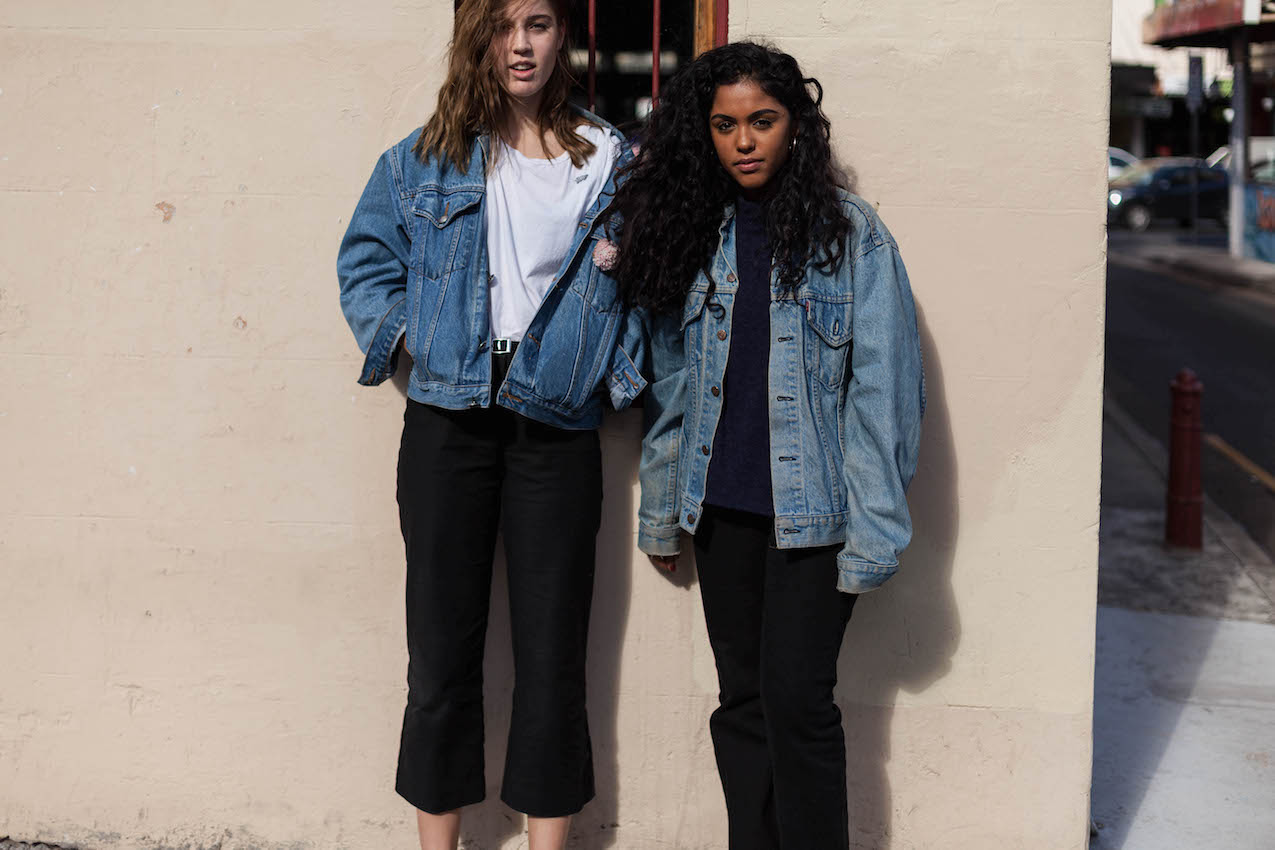"""NSW: Imogen Brooks (L) """"I like cheap and easy, baby"""" and Sabrina Santiago """"I like vintage."""" Newtown. Photo: James Coomer"""